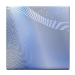 Blue Star Background Face Towel