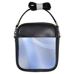 Blue Star Background Girls Sling Bags