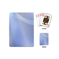 Blue Star Background Playing Cards (mini)