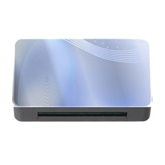 Blue Star Background Memory Card Reader With Cf