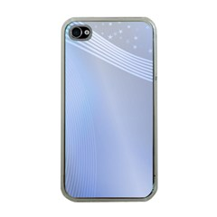 Blue Star Background Apple Iphone 4 Case (clear)