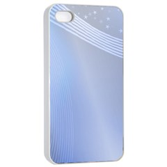 Blue Star Background Apple Iphone 4/4s Seamless Case (white)