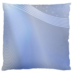 Blue Star Background Large Cushion Case (two Sides)