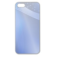 Blue Star Background Apple Seamless Iphone 5 Case (clear)