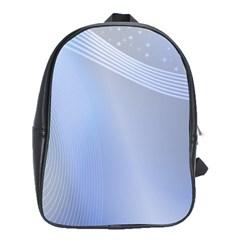 Blue Star Background School Bags (xl)