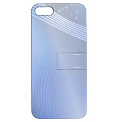 Blue Star Background Apple Iphone 5 Hardshell Case With Stand