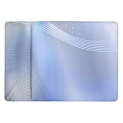 Blue Star Background Samsung Galaxy Tab 10 1  P7500 Flip Case