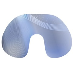 Blue Star Background Travel Neck Pillows