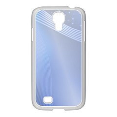 Blue Star Background Samsung Galaxy S4 I9500/ I9505 Case (white)