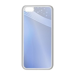 Blue Star Background Apple Iphone 5c Seamless Case (white)