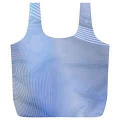 Blue Star Background Full Print Recycle Bags (l)
