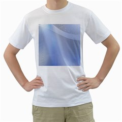 Blue Star Background Men s T Shirt (white)