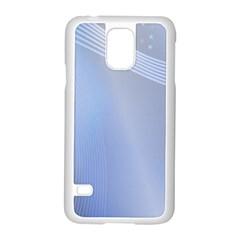 Blue Star Background Samsung Galaxy S5 Case (white)