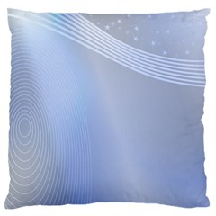 Blue Star Background Large Flano Cushion Case (two Sides)