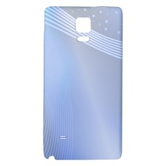 Blue Star Background Galaxy Note 4 Back Case