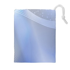 Blue Star Background Drawstring Pouches (extra Large)
