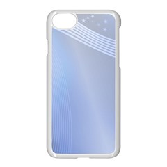 Blue Star Background Apple Iphone 7 Seamless Case (white)
