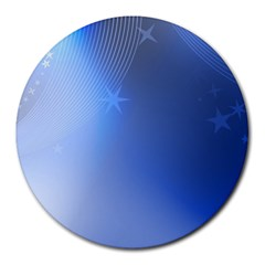 Blue Star Background Round Mousepads