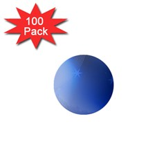 Blue Star Background 1  Mini Buttons (100 Pack)