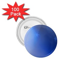 Blue Star Background 1 75  Buttons (100 Pack)