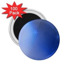 Blue Star Background 2 25  Magnets (100 Pack)