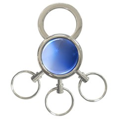 Blue Star Background 3 Ring Key Chains