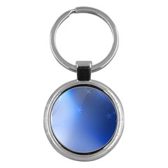 Blue Star Background Key Chains (round)