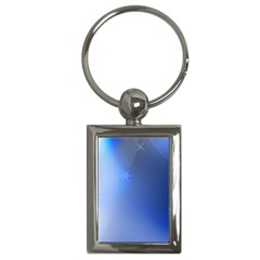 Blue Star Background Key Chains (rectangle)