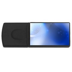 Blue Star Background USB Flash Drive Rectangular (1 GB)