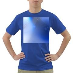 Blue Star Background Dark T Shirt
