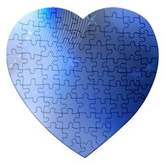 Blue Star Background Jigsaw Puzzle (heart)
