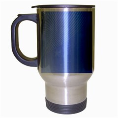 Blue Star Background Travel Mug (silver Gray)