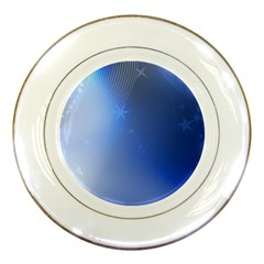 Blue Star Background Porcelain Plates