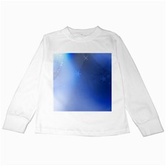 Blue Star Background Kids Long Sleeve T-Shirts
