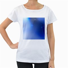Blue Star Background Women s Loose Fit T Shirt (white)