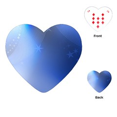Blue Star Background Playing Cards (heart)