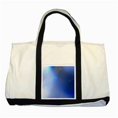Blue Star Background Two Tone Tote Bag