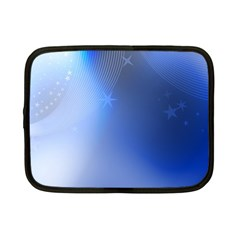 Blue Star Background Netbook Case (small)