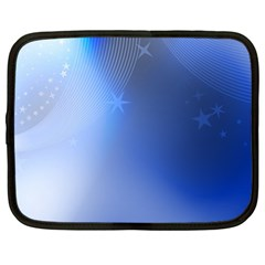 Blue Star Background Netbook Case (Large)