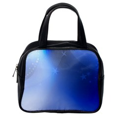 Blue Star Background Classic Handbags (one Side)
