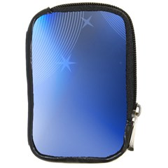 Blue Star Background Compact Camera Cases