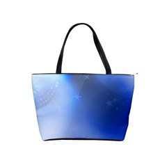 Blue Star Background Shoulder Handbags