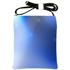 Blue Star Background Shoulder Sling Bags