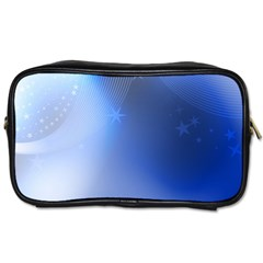 Blue Star Background Toiletries Bags 2 Side