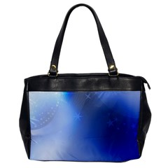 Blue Star Background Office Handbags
