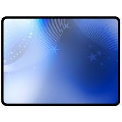Blue Star Background Fleece Blanket (large)