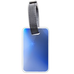 Blue Star Background Luggage Tags (two Sides)