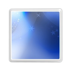 Blue Star Background Memory Card Reader (square)