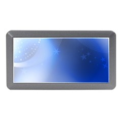 Blue Star Background Memory Card Reader (mini)