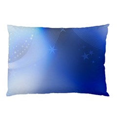 Blue Star Background Pillow Case (two Sides)